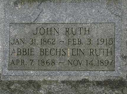 RUTH, ABBIE - Lorain County, Ohio | ABBIE RUTH - Ohio Gravestone Photos