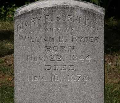 BUSHNELL RYDER, MARY E. - Lorain County, Ohio | MARY E. BUSHNELL RYDER - Ohio Gravestone Photos