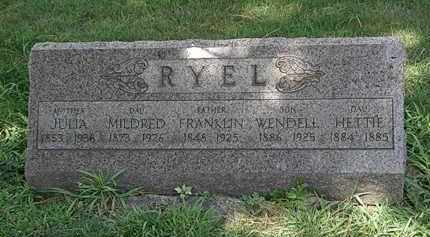 RYEL, MILDRED - Lorain County, Ohio | MILDRED RYEL - Ohio Gravestone Photos