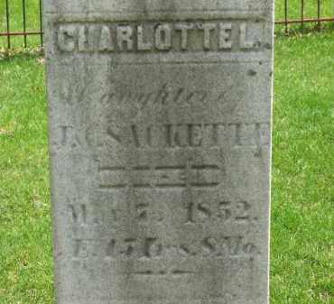 SACKETTE, CHARLOTTE L. - Lorain County, Ohio | CHARLOTTE L. SACKETTE - Ohio Gravestone Photos