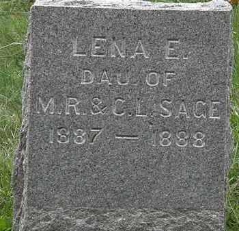 SAGE, LENA E. - Lorain County, Ohio | LENA E. SAGE - Ohio Gravestone Photos