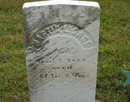 SAGE, MARTIN L - Lorain County, Ohio | MARTIN L SAGE - Ohio Gravestone Photos