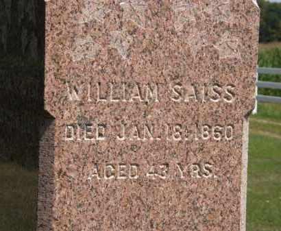 SAISS, WILLIAM - Lorain County, Ohio | WILLIAM SAISS - Ohio Gravestone Photos