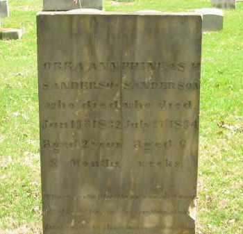 SANDERSON, ORRA ANN - Lorain County, Ohio | ORRA ANN SANDERSON - Ohio Gravestone Photos