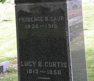 SAUR, PRUDENCE B. - Lorain County, Ohio | PRUDENCE B. SAUR - Ohio Gravestone Photos