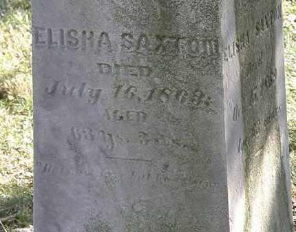 SAXTON, ELISHA - Lorain County, Ohio | ELISHA SAXTON - Ohio Gravestone Photos