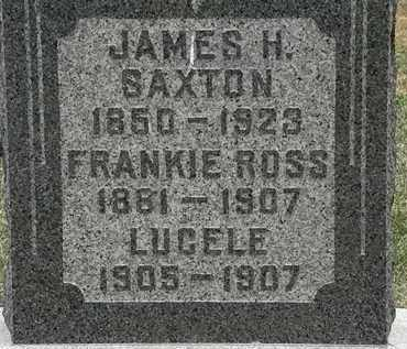 SAXTON, FRANKIE ROSS - Lorain County, Ohio | FRANKIE ROSS SAXTON - Ohio Gravestone Photos