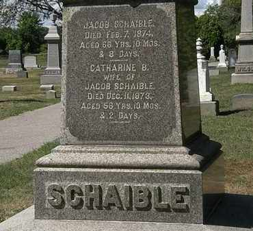 SCHAIBLE, JACOB - Lorain County, Ohio | JACOB SCHAIBLE - Ohio Gravestone Photos