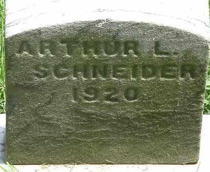 SCHNEIDER, ARTHUR L. - Lorain County, Ohio | ARTHUR L. SCHNEIDER - Ohio Gravestone Photos