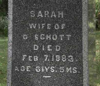 SCHOTT, SARAH - Lorain County, Ohio | SARAH SCHOTT - Ohio Gravestone Photos