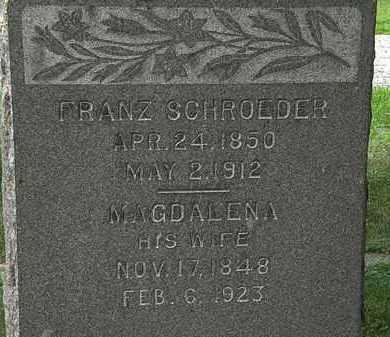 SCHROEDER, FRANZ - Lorain County, Ohio | FRANZ SCHROEDER - Ohio Gravestone Photos