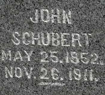 SCHUBERT, JOHN - Lorain County, Ohio | JOHN SCHUBERT - Ohio Gravestone Photos
