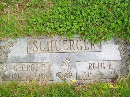 SCHUERGER, RUTH E. - Lorain County, Ohio | RUTH E. SCHUERGER - Ohio Gravestone Photos