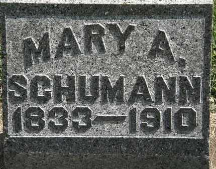 SCHUMANN, MARY A. - Lorain County, Ohio | MARY A. SCHUMANN - Ohio Gravestone Photos