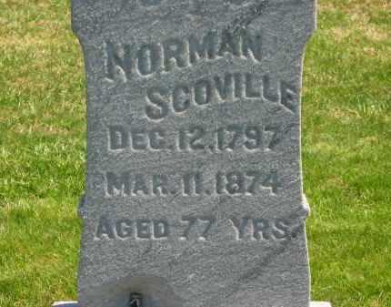 SCOVILLE, NORMAN - Lorain County, Ohio | NORMAN SCOVILLE - Ohio Gravestone Photos