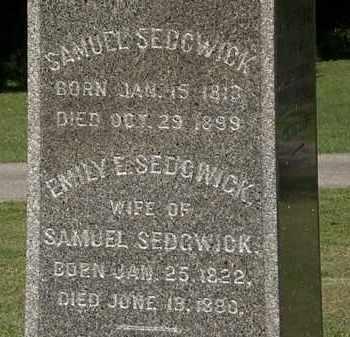 SEDGWICK, EMILY E. - Lorain County, Ohio | EMILY E. SEDGWICK - Ohio Gravestone Photos