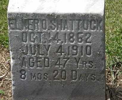 SHATTUCK, ELMER O. - Lorain County, Ohio | ELMER O. SHATTUCK - Ohio Gravestone Photos