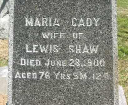 CADY SHAW, MARIA - Lorain County, Ohio | MARIA CADY SHAW - Ohio Gravestone Photos