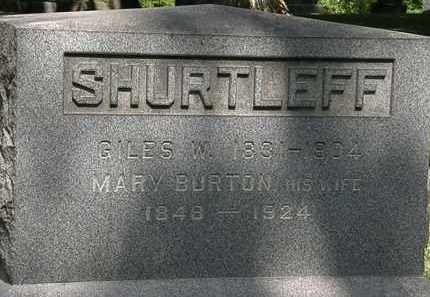 SHURTLEFF, GILES W. - Lorain County, Ohio | GILES W. SHURTLEFF - Ohio Gravestone Photos