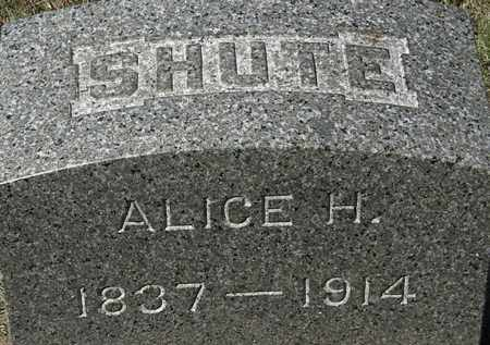 SHUTE, ALICE H. - Lorain County, Ohio | ALICE H. SHUTE - Ohio Gravestone Photos