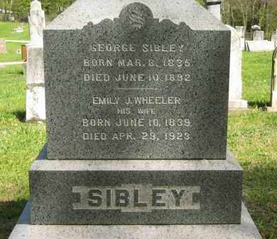 WHEELER SIBLEY, EMILY J. - Lorain County, Ohio | EMILY J. WHEELER SIBLEY - Ohio Gravestone Photos