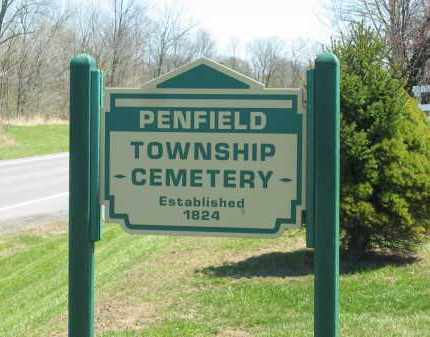 SIGN, CEMETERY - Lorain County, Ohio | CEMETERY SIGN - Ohio Gravestone Photos