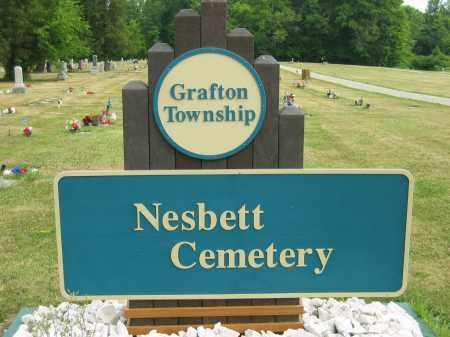SIGN, NESBETT CEMETERY - Lorain County, Ohio | NESBETT CEMETERY SIGN - Ohio Gravestone Photos