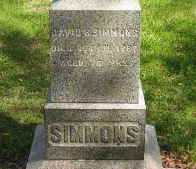 SIMMONS, DAVID B. - Lorain County, Ohio | DAVID B. SIMMONS - Ohio Gravestone Photos