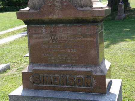 SIMONSON, MARGARET - Lorain County, Ohio | MARGARET SIMONSON - Ohio Gravestone Photos