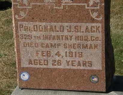 SLACK, DONALD J. - Lorain County, Ohio | DONALD J. SLACK - Ohio Gravestone Photos