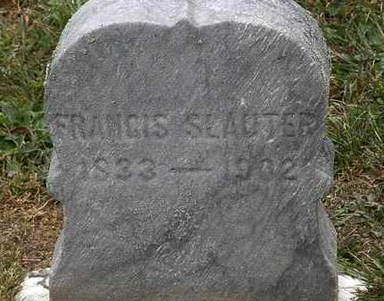 SLAUTER, FRANCIS - Lorain County, Ohio | FRANCIS SLAUTER - Ohio Gravestone Photos
