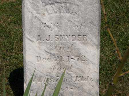 SNYDER, A.J. - Lorain County, Ohio | A.J. SNYDER - Ohio Gravestone Photos