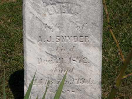 SNYDER, LYDIA - Lorain County, Ohio | LYDIA SNYDER - Ohio Gravestone Photos