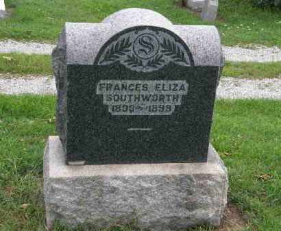 SOUTHWORTH, FRANCIS ELIZA - Lorain County, Ohio | FRANCIS ELIZA SOUTHWORTH - Ohio Gravestone Photos