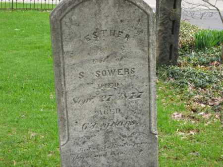 SOWERS, ESTHER - Lorain County, Ohio | ESTHER SOWERS - Ohio Gravestone Photos