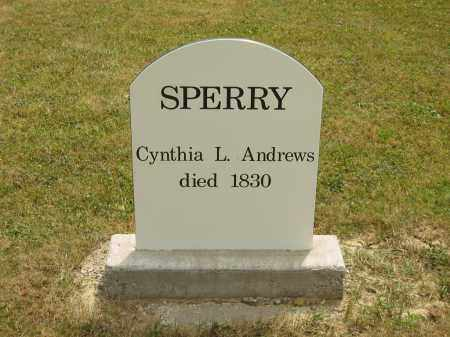 ANDREWS SPERRY, CYNTHIA L. - Lorain County, Ohio | CYNTHIA L. ANDREWS SPERRY - Ohio Gravestone Photos