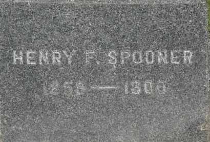 SPOONER, HENRY F. - Lorain County, Ohio | HENRY F. SPOONER - Ohio Gravestone Photos