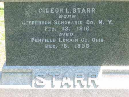 STARR, GIDEON - Lorain County, Ohio | GIDEON STARR - Ohio Gravestone Photos