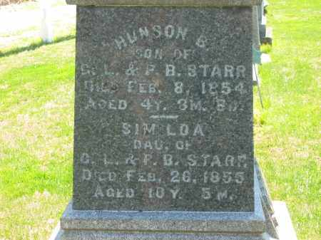 STARR, HUNSON B. - Lorain County, Ohio | HUNSON B. STARR - Ohio Gravestone Photos