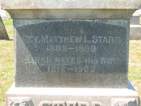 STARR, REV. MATTHEW L. - Lorain County, Ohio | REV. MATTHEW L. STARR - Ohio Gravestone Photos