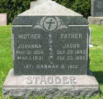 STAUDER, JACOB - Lorain County, Ohio | JACOB STAUDER - Ohio Gravestone Photos