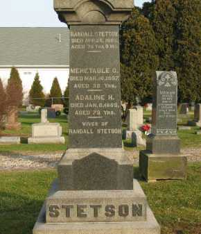 STETSON, MEHETABLE G. - Lorain County, Ohio | MEHETABLE G. STETSON - Ohio Gravestone Photos