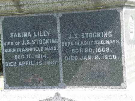 STOCKING, J. S. - Lorain County, Ohio | J. S. STOCKING - Ohio Gravestone Photos