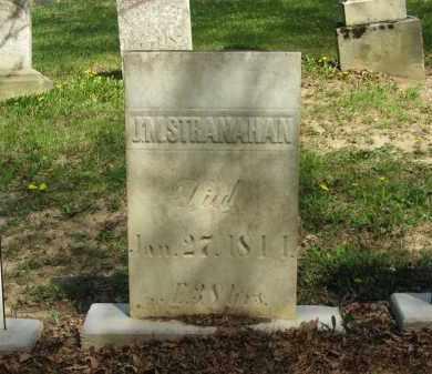 STRANAHAN, J. M. - Lorain County, Ohio | J. M. STRANAHAN - Ohio Gravestone Photos