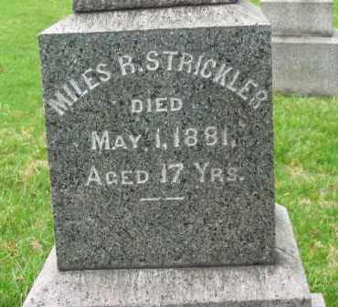 STRICKLER, MILES R. - Lorain County, Ohio | MILES R. STRICKLER - Ohio Gravestone Photos