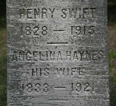 HAYNES SWIFT, ANGELINA - Lorain County, Ohio | ANGELINA HAYNES SWIFT - Ohio Gravestone Photos