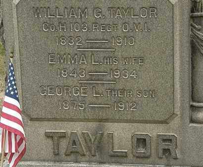 TAYLOR, WILLIAM G. - Lorain County, Ohio | WILLIAM G. TAYLOR - Ohio Gravestone Photos