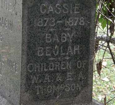 THOMPSON, CASSIE - Lorain County, Ohio | CASSIE THOMPSON - Ohio Gravestone Photos