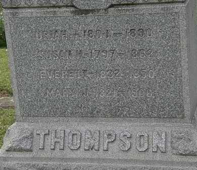 THOMPSON, MARY J. - Lorain County, Ohio | MARY J. THOMPSON - Ohio Gravestone Photos