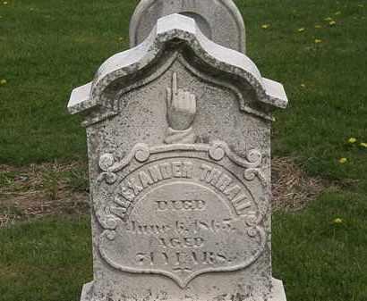 THRALL, ALEXANDER - Lorain County, Ohio | ALEXANDER THRALL - Ohio Gravestone Photos